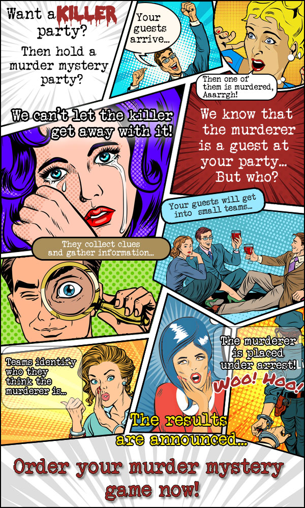 Murder Mystery Party Comic